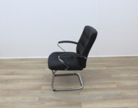 Black Faux Leather Meeting Chairs - Thumb 4