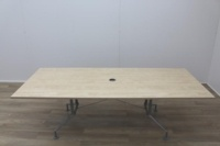 Maple 2400mm Rectangular Office Meeting Table - Thumb 3