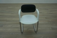 Allermuir A783 White / Black Office Stacking Meeting Chairs - Thumb 3