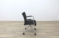 Zuco Visita Black Fabric Seat / Black Mesh Back Office Meeting Chair - Thumb 6