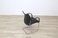 Herman Miller Black Fabric Seat Black Polymer Back Office Meeting Chairs - Thumb 7