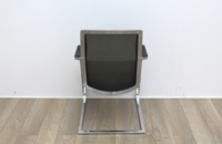 Black Seat/Dark Green Back Meeting Chair With Chrome Legs - Thumb 4