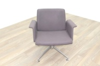 Brunner Grey Fabric Self Centering Meeting/Reception Chair - Thumb 2