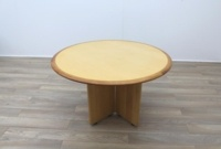 Maple round table with walnut inlay - Thumb 5
