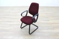 President Burgundy Fabric Office Meeting Chairs - Thumb 3