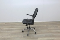Black Leather Operator/Executive Chairs - Thumb 4