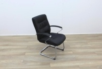 Black Faux Leather Meeting Chairs - Thumb 6