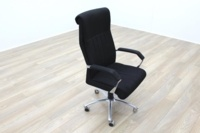 President High Back Black Fabric Executive Office Task Chair - Thumb 2