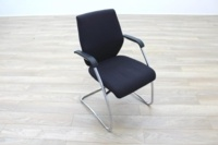 Orangebox Black Fabric Cantilever Office Meeting Chair - Thumb 5