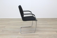 Brunner Black Fabric Cantilever Meeting Chair - Thumb 6