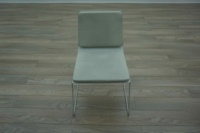 White Leather Office Meeting Chairs - Thumb 3