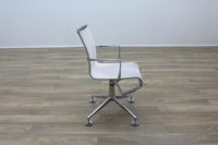Alias Chrome Base White Mesh Office Meeting Chairs - Thumb 4