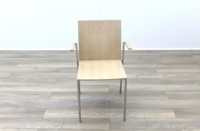 Brunner Oak Meeting Chair with Armpads - Thumb 4