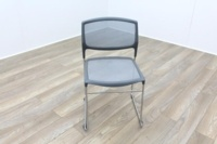 Daylight Grey Mesh Canteen Chair Made in US - Thumb 2