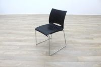 Icon Patra Black Office Canteen Chairs - Thumb 3