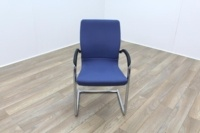 Ahrend Blue Fabric Meeting Chair - Thumb 2