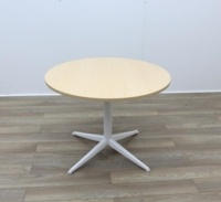 Maple Round Table With White Frame - Thumb 2