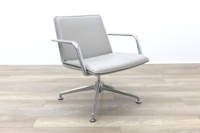 Brunner Light Grey Leather Meeting Chair - Thumb 5
