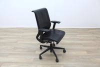 Steelcase Think Black Leather Office Task Chairs - Thumb 2