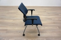 Ahrend Blue Leather Office Meeting Chairs - Thumb 4