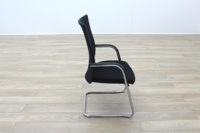 Black Fabric High Back Cantilever Office Meeting Chairs - Thumb 6