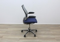 Humanscale Liberty Blue Fabric / Grey Mesh Office Task Chairs - Thumb 4