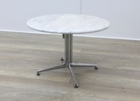 Circular Marble Table With Chrome Legs - Thumb 4