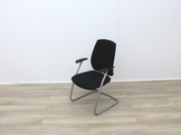 Black Fabric Meeting Chairs - Thumb 3
