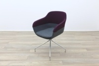 Brunner Purple and Grey Fabric Reception Tub Chair - Thumb 3