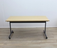 Oak 1600mm Straight Folding Office Meeting / Training Tables - Thumb 3