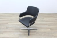 Brunner Grey Leather Executive Meeting Chair - Thumb 3