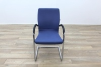 Ahrend Blue Fabric Meeting Chair - Thumb 4
