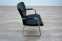 Pledge Black Leather Cantilever Office Meeting Chairs - Thumb 4