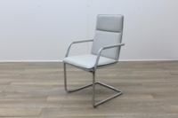 Brunner White Leather Meeting Chair - Thumb 3