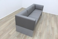 Brunner Grey Leather Sofa - Thumb 5