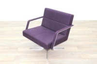 Brunner Purple Fabric Reception Chair - Thumb 3