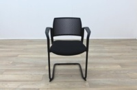 Torasen Polymer Back Black Fabric Seat - Thumb 4