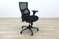 RS Pro Mesh Back Black Fabric Seat Operator Chair - Thumb 5