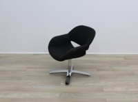 Black Fabric Kusch Co Volpe Meeting Chairs - Thumb 3