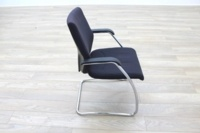 Orangebox Black Fabric Cantilever Office Meeting Chair - Thumb 6
