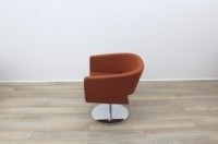 Orange Fabric Tub Chairs - Thumb 5