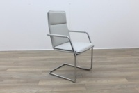 Brunner White Leather Meeting Chair - Thumb 5