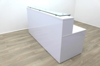 New Cancelled Order Gloss White Office Reception Desk Counter - Thumb 4
