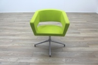 Boss Design Green Fabric Office Reception Tub Chairs - Thumb 4