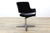 Brunner Black Leather Self Centering Executive Meeting Chair - Thumb 7