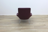 Walter Knoll Flow Armchair in Oxblood Leather - Thumb 5