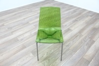Frovi Green Transparent Plastic / Chrome Frame Canteen Chairs - Thumb 3