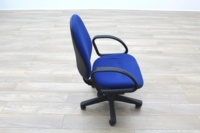 Blue Fabric Adjustable Operator Chairs - Thumb 4