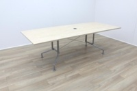 Maple 2400mm Rectangular Office Meeting Table - Thumb 2