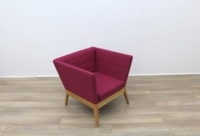 Pink Fabric Reception Tub Chair - Thumb 6